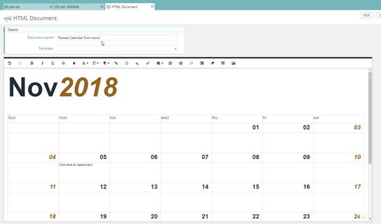 Html Calendario.Creating New Synergist Html Documents Synergist Express Ltd
